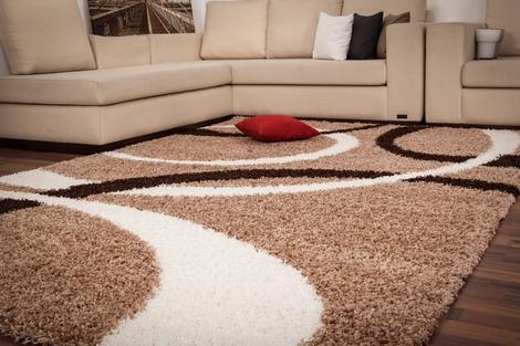 langflor hochflor shaggy designer weich teppich moderne teppiche neu ovp angebot ebay. Black Bedroom Furniture Sets. Home Design Ideas