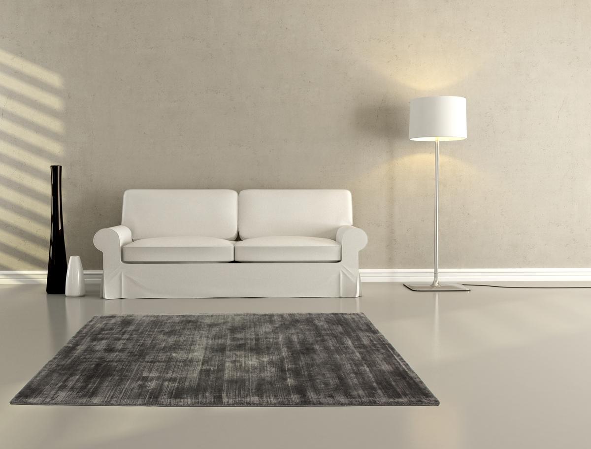Hochwertige teppiche  Hochwertiger Teppich Viskose Flachflor Kurzflor Natur UNI Teppiche ...