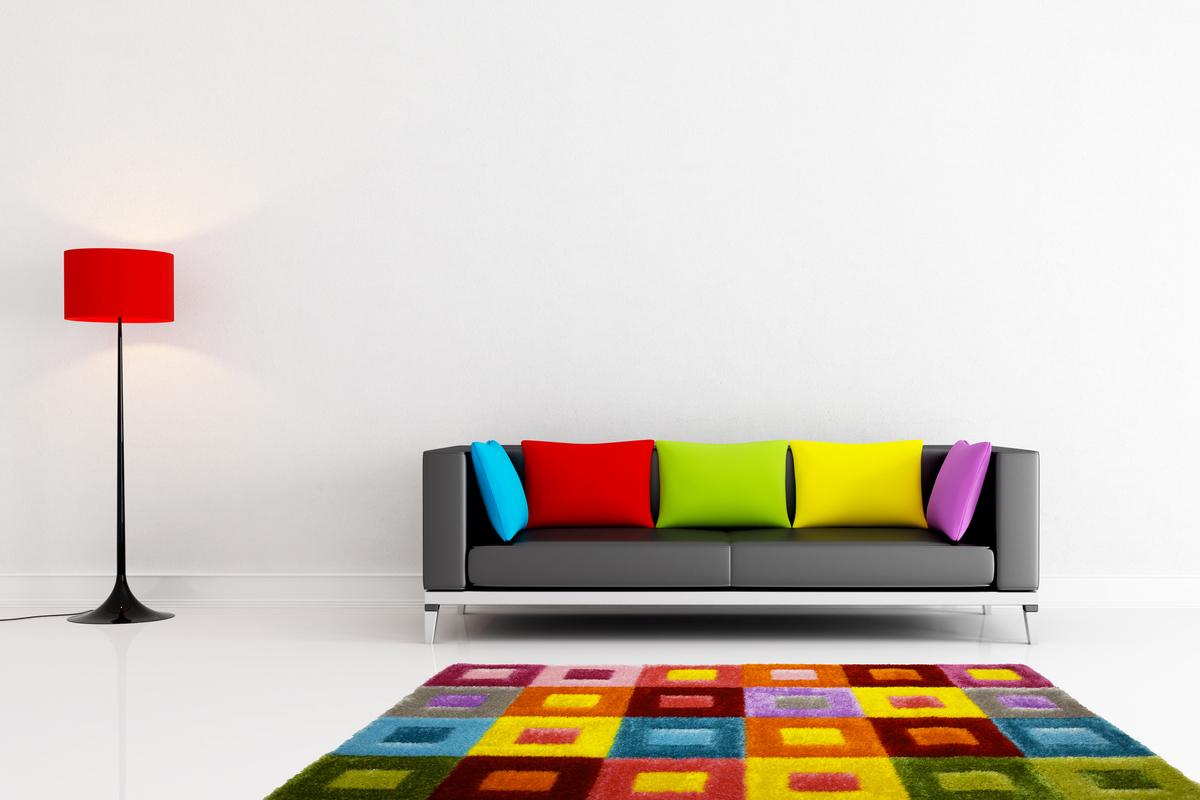 moderne teppiche hochflor 3d optik neu teppich kastendesign weich bunt rot gelb ebay. Black Bedroom Furniture Sets. Home Design Ideas