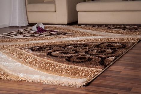 moderner hochflor teppich gold glanz beige 160cm x 230cm. Black Bedroom Furniture Sets. Home Design Ideas